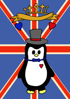 Crafty Penguin Royal Wedding Design