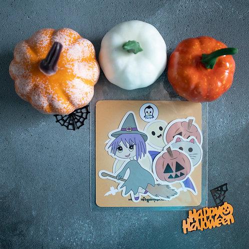 Cute witch, sticker pack, Halloween designs