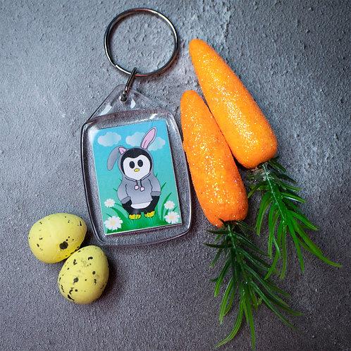 Cute rabbit, Easter, penguin, key ring