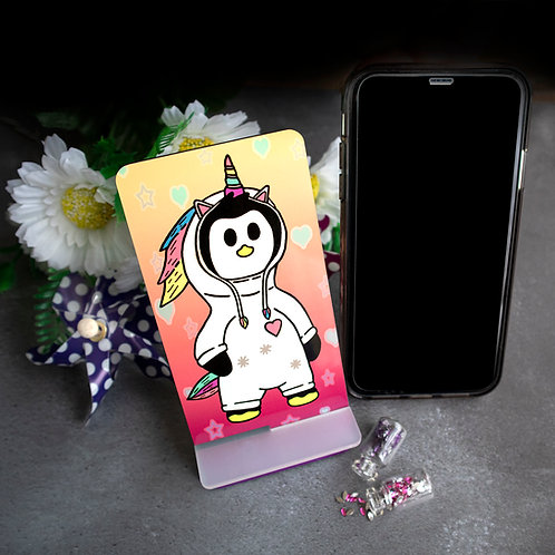 Unicorn Penguin, mobile, phone stand, desk tidy