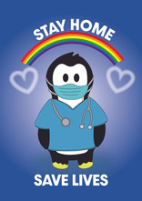 Crafty Penguin Stay Home Design