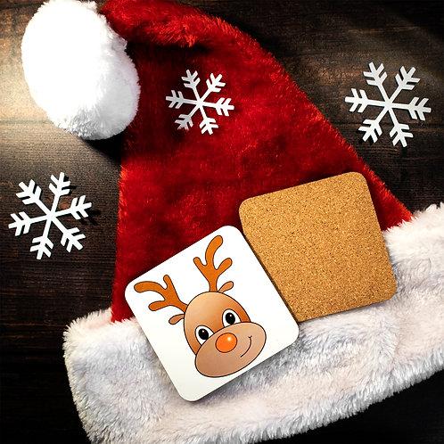 Reindeer coaster, Rudolph, drink mat, Christmas