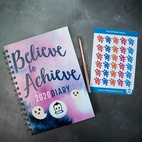 Social media, planner, sticker sheet