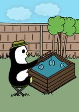 Crafty Penguin Fishing Design