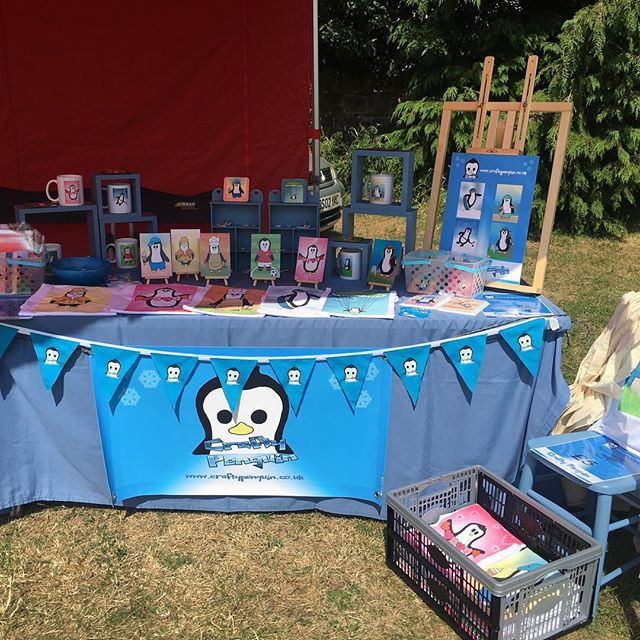 Crafty Penguin first ever stall