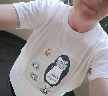 Custom Design Crafty Penguin T-shirt