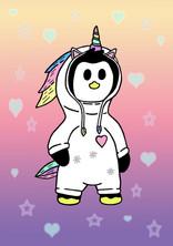 Crafty Penguin Unicorn Design