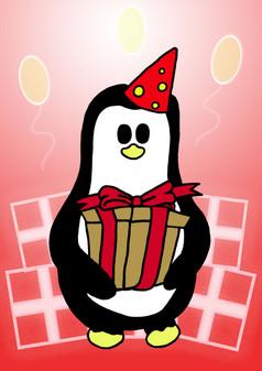 Crafty Penguin Present Design