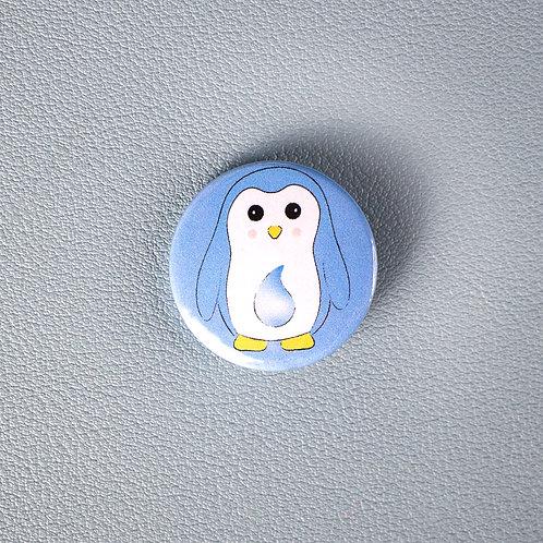 Self care, water penguin, pin badge