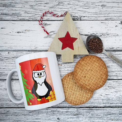 Penguin Christmas mug, present, Xmas, gift