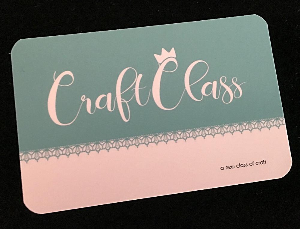 Craft Class business card