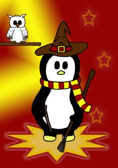 Crafty Penguin Wizard Design