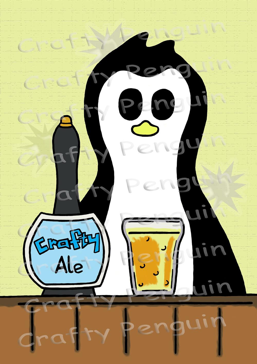 Crafty Penguin Beer design