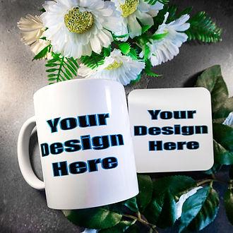 Design Services -cusom mug and coaster