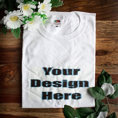 Custom T-shirt, peronalised, photo print, brand