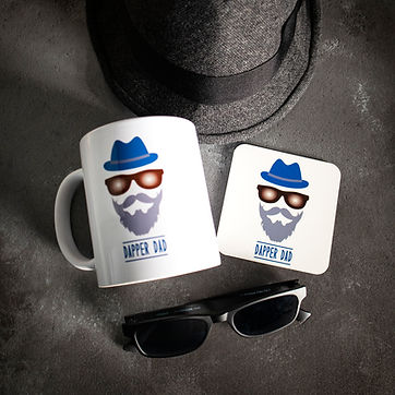 Dapper Dad mug and coaster set