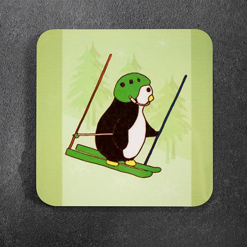 Penguin skiing, ski racing, downhill, coaster
