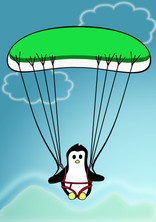 Crafty Penguin Paragliding Design