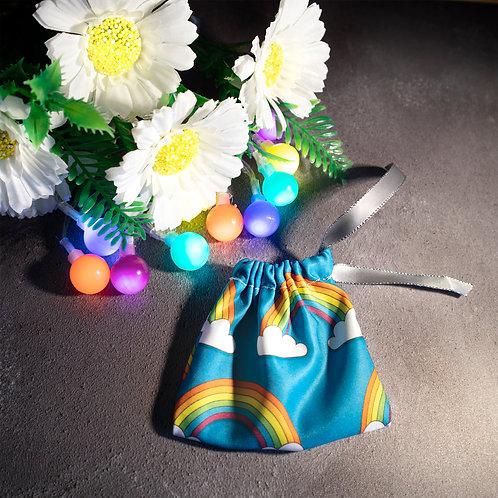 Rainbow pattern, storage, bag, drawstring