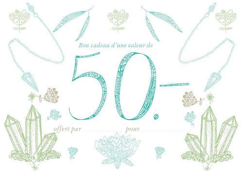 Bon cadeau 50.-
