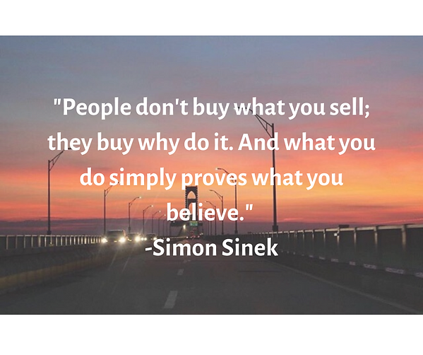 _People don't buy what you sell; they bu