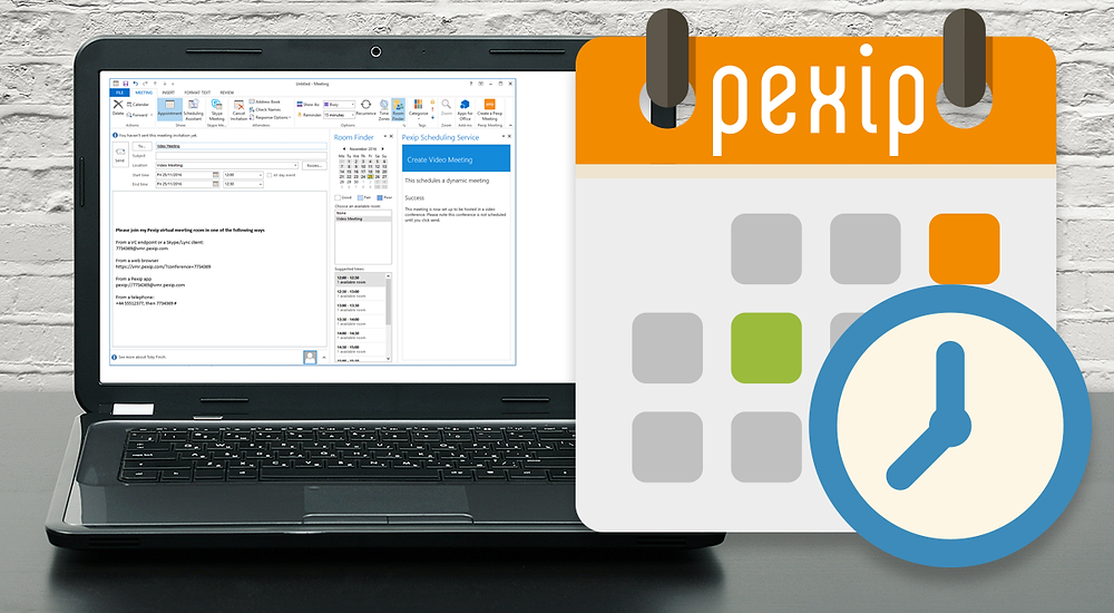 Pexip Outlook Scheduling