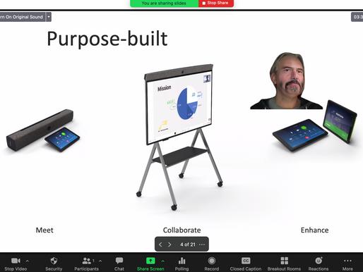 Zoom - prezentacja jako wirtualne tło.