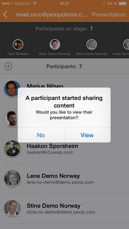 Pexip Connect iOS