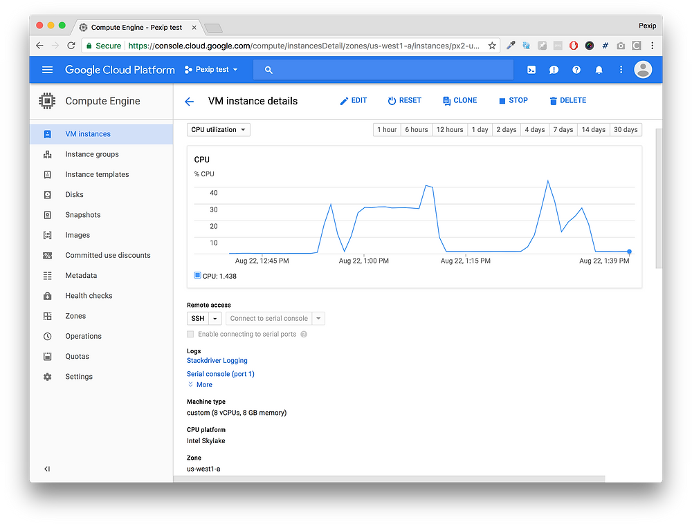 Pexip Infinity na w chmurze Google Cloud Platform