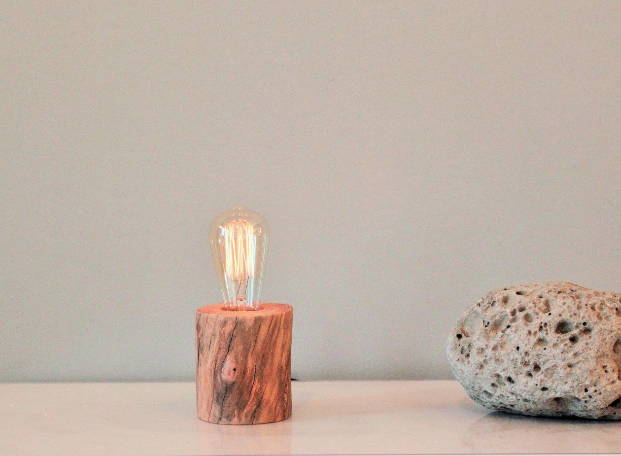 Edison Wood Table Lamp