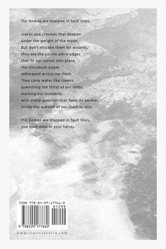 Blurb of Fault Lines: A Collection of Contemporary Poetry and Photography by Clarissa Sofia