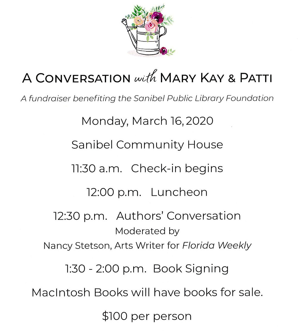 Event Lunch With The Authors Patti Callahan Henry And Mary Kay Andrews Sanibel Fl March 16th