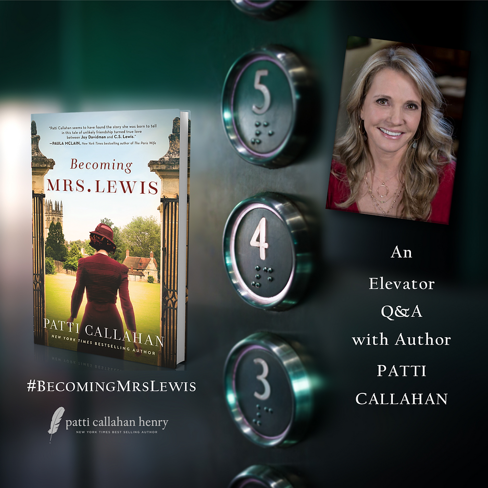 Elevator Q&A Interview with Author Patti Callahan and Book Blogger Judith D Collins