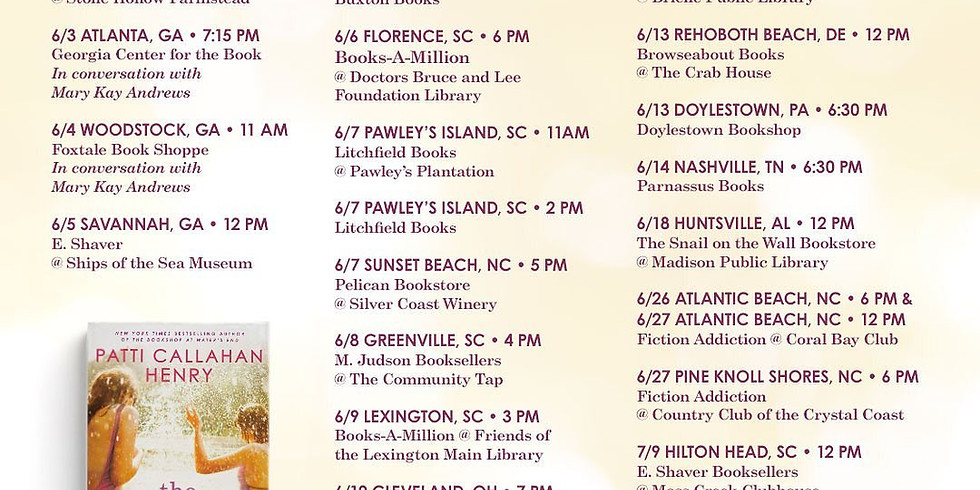 Join Patti Callahan Henry for The Favorite Daughter Book Tour Kick-Off