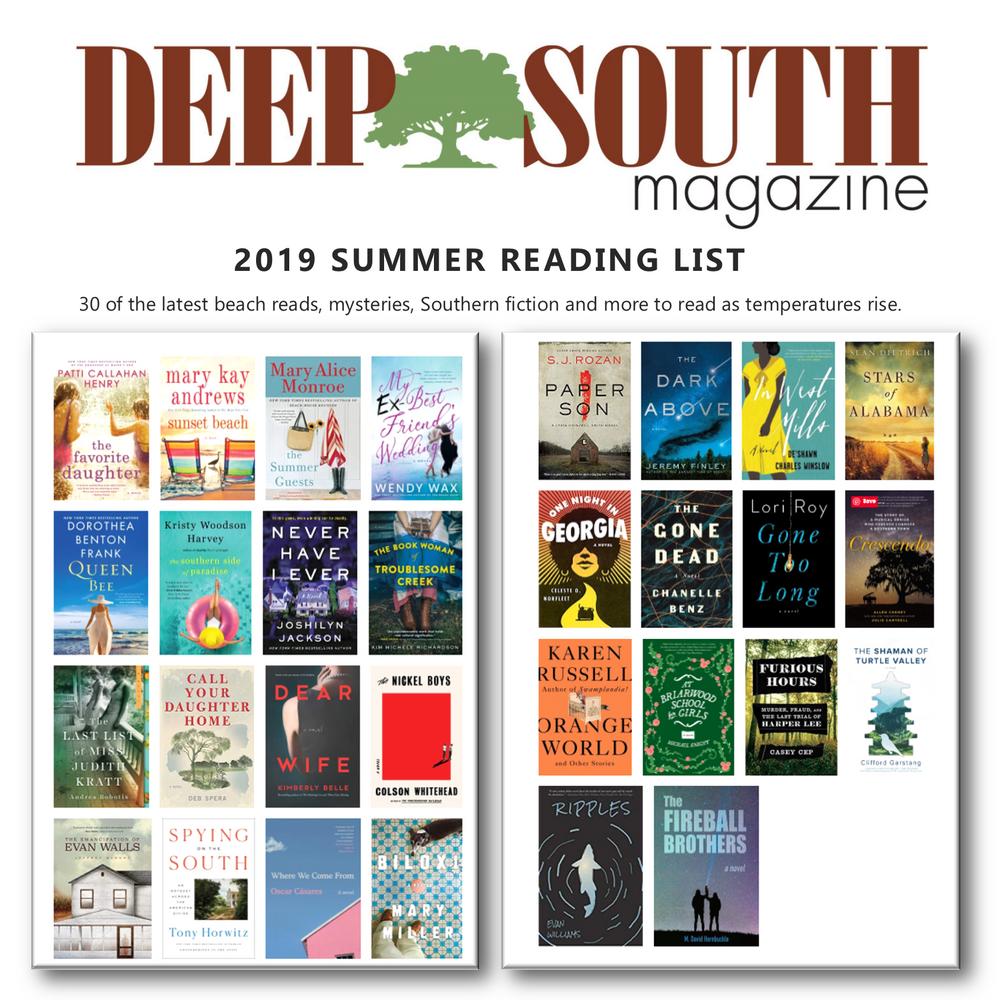 Deep South 2019 SUMMER READING LIST
