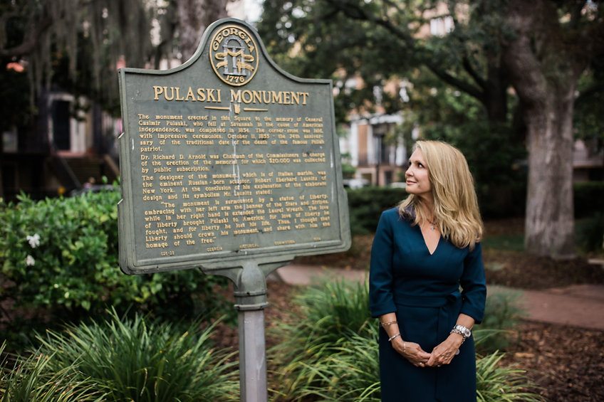 Patti Callahan Pulaski Monument
