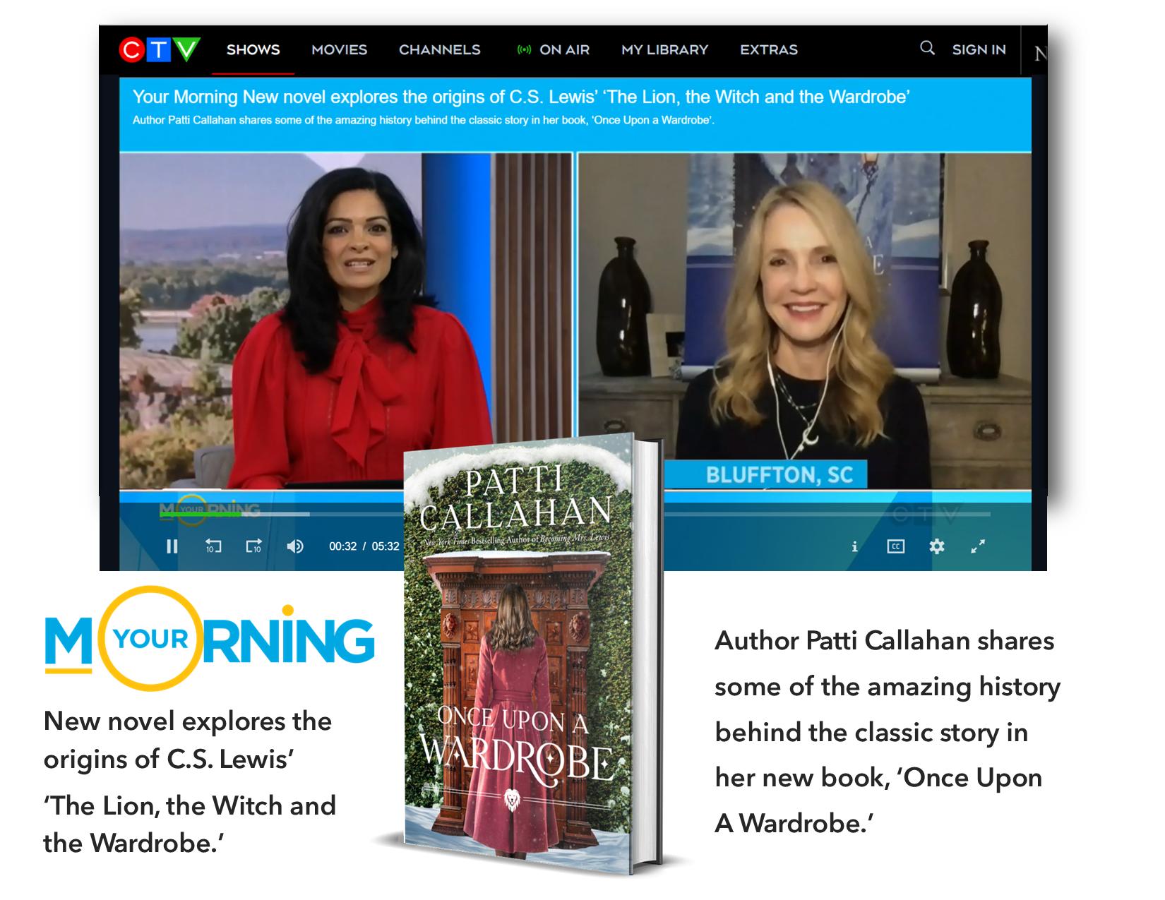 CTV with Patti Callahan Once Upon a Wardrobe