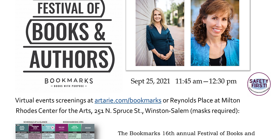 WINSTON-SALEM, NC | Bookmarks 16th Annual Festival of Books & Authors | Sept. 23-26, 2021