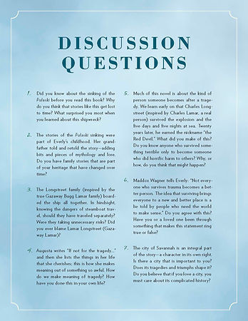 Surviving Savannah Discussion Questions | Page One