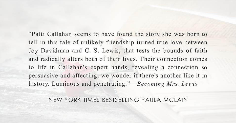 NYT Author Paula Mclain