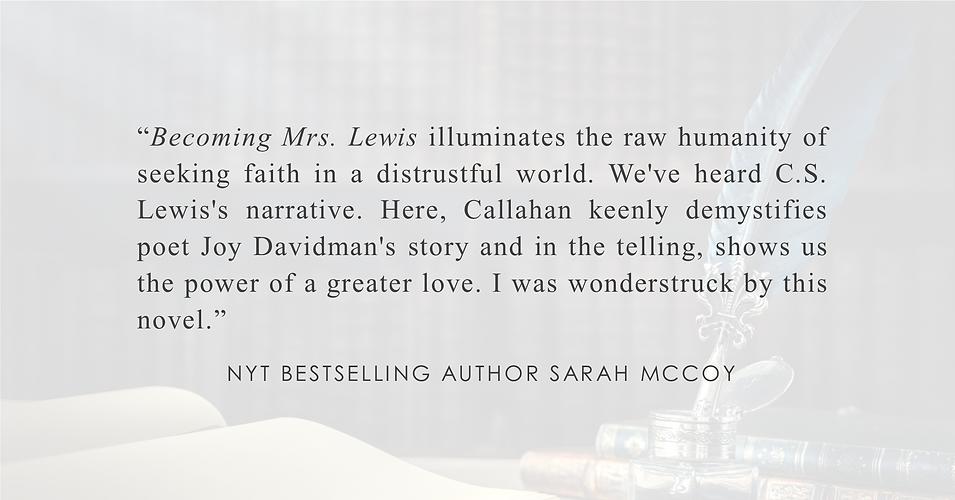 NYT Bestselling Author Sarah McCoy