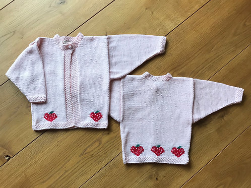 Strawberry cardigan