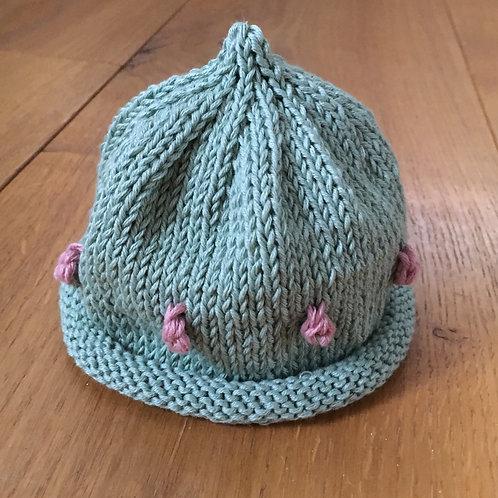 Green Picot Hat