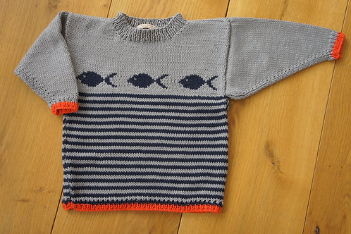 Stripey Fish Jumper