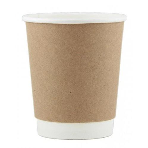 Coffee Cup 8oz Double Wall KRAFT sleeve 25