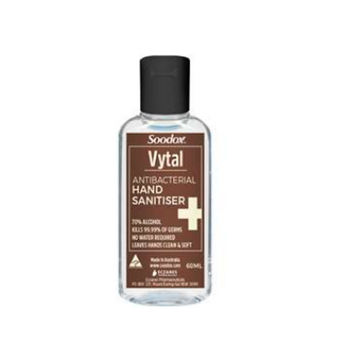 Soodox Vytal Hand Sanitiser 60ml 70% alcohol