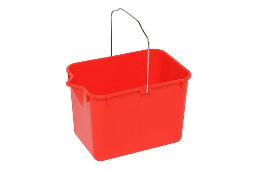 Edco squeeze mop bucket red