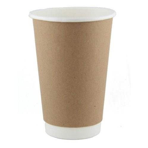 Coffee Cup 16 oz Double Wall Kraft sleeve 25