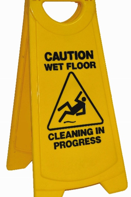 Edco standard warning sign (warning wet floor)