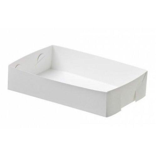 Food Tray med 22x14x4 White Pk 200